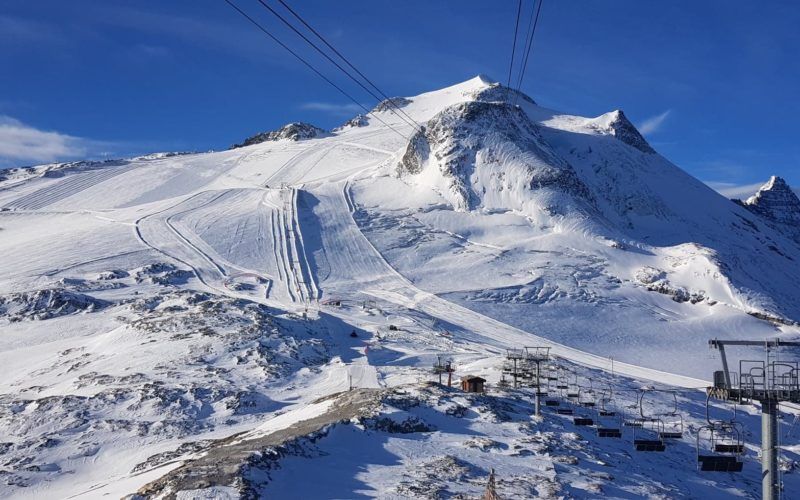 Tignes has announced the opening of the Grande-Motte glacier on October 19, 2019